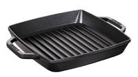 Сковорода-гриль квадратная с 2 ручками Staub 23 см черная 12012323