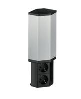 Модульный блок с 3-мя розетками Evoline 934.50.001 черный