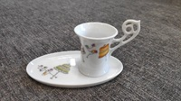 Набор из 4 чашек кофейных Haviland «Мадам принимает гостей»