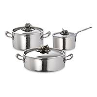 Набор посуды 3 предмета: кастрюля 3,5 л, ковш 1,6 л, сотейник 5 л, серия Opus Prima RUFFONI Z06