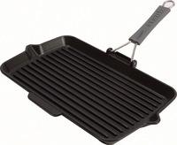 Сковорода для гриля прямоугольная Staub черная с силиконовой ручкой 34х21 см 1202223