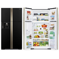 Холодильник Hitachi R-W722 FPU1X GBK черное стекло